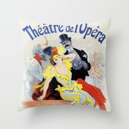 1897 Masquerade ball Paris Opera Throw Pillow