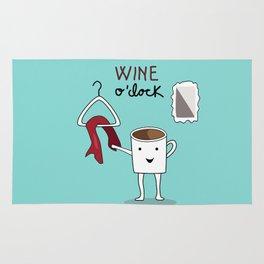 Wine O'clock Rug