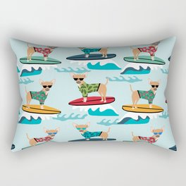 chihuahua pattern surfing cute pet gifts dog lovers chihuahuas Rectangular Pillow