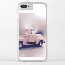 Classic Vintage Pickup Clear iPhone Case