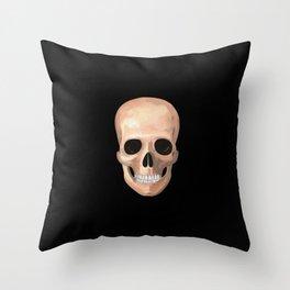 Smiling Skull Throw Pillow