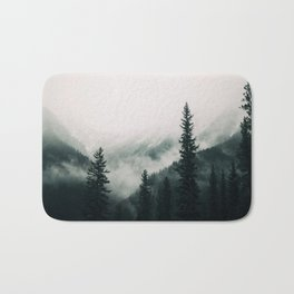 Over the Mountains and trough the Woods -  Forest Nature Photography Bath Mat