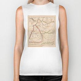 Map of Kentucky (1793) Biker Tank
