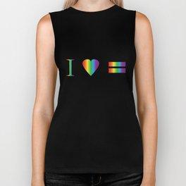 I heart Equality Biker Tank