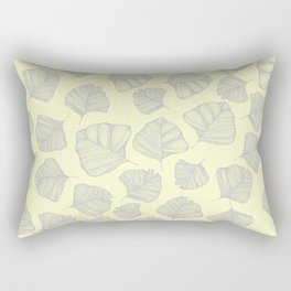 Yellow Ginkgo Leaves Rectangular Pillow