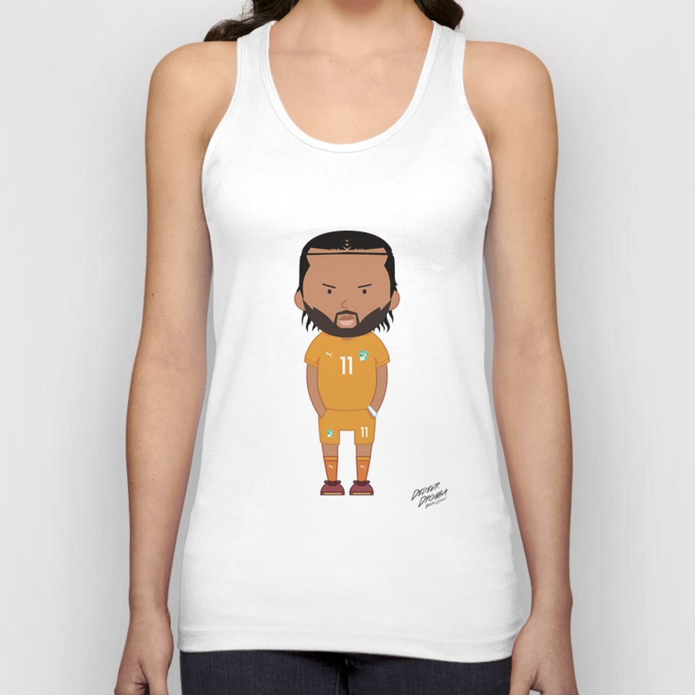 Didier Drogba - Ivory Coast - World Cup 2014 Unisex Tank Top by Toonsoccer TNK9022451