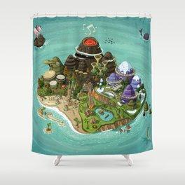 Rock Island Shower Curtain