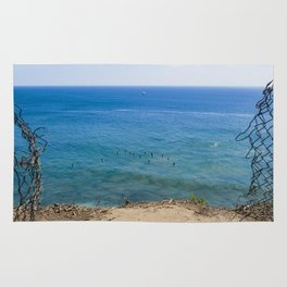 Malibu Surfing, Locals Only, Malibu California, Surf Photography, Surf Art, Surf Aerial Rug