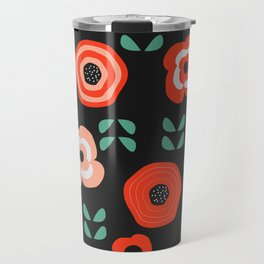 Midnight floral decor Travel Mug
