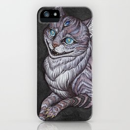 the Cheshire Cat art print iPhone Case
