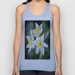 dwarf Daffs in oils Unisex Tank Top