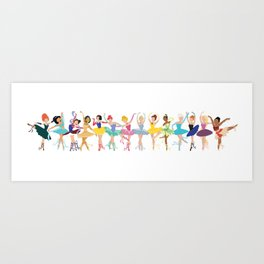 All the Ballerina Princesses Art Print