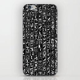 Hieroglyphics B&W INVERTED / Ancient Egyptian hieroglyphics pattern iPhone Skin