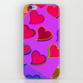 Equal different hearts ... iPhone Skin