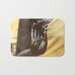 Buddha Hand Illustration Bath Mat