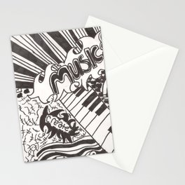 Life, Create, Art, and Music Stationery Cards