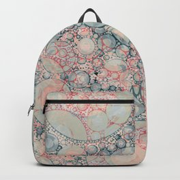 Vintage Bubble Cell Pattern Abstract Backpack