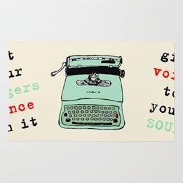 Lettera 22 typewriter fifties style 1950 - 50s style - Olivetti facsimile Rug