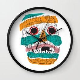 Stripy Skull  Wall Clock