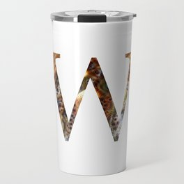 "Initial letter ""W"" Travel Mug"
