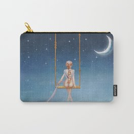 The lovely girl shakes on a swing Carry-All Pouch