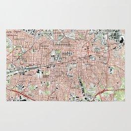 Greensboro North Carolina Map (1997) Rug