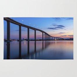 The Jordan Bridge at Twilight Rug