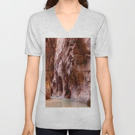The Narrows Zion National Park Utah Unisex V-Neck
