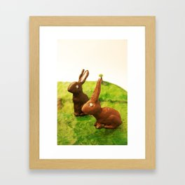 rabbit friends Framed Art Print