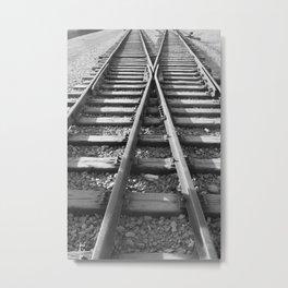 Train Track Switch Railroad Metal Print