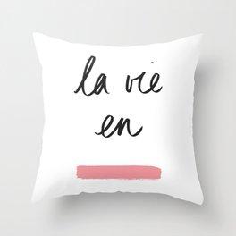 La Vie en Rose x Telma W. Throw Pillow