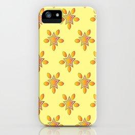 Golden Star Pattern iPhone Case