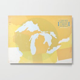 The GREAT LAKES of NORTH AMERICA Metal Print