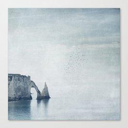 View of Chalk Cliffs Étretat-Normandy-France Canvas Print