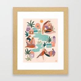 Women of the oasis Framed Art Print