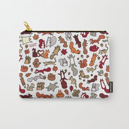 Squirrels in Fall Doodle Carry-All Pouch