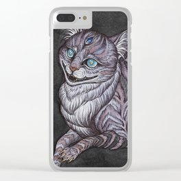 the Cheshire Cat art print Clear iPhone Case