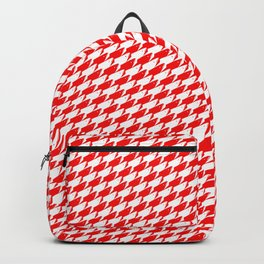 Sharkstooth Sharks Pattern Repeat in White and Red Backpack