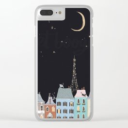 Cats in Paris Clear iPhone Case