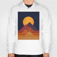 budi Hoodies featuring Full moon and pyramid by Picomodi