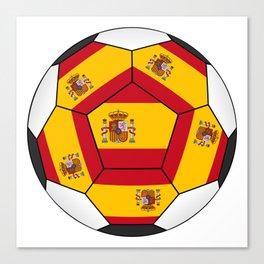 Soccer ball with Spanish flag Canvas Print