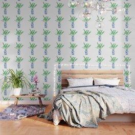 Ginger Jar + Bird of Paradise Wallpaper