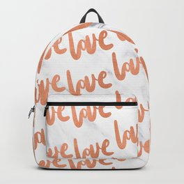 Love Rose Gold Marble Backpack