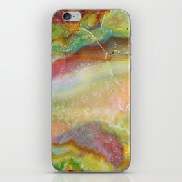 Colorful Abstract Marble Stone Green overtones iPhone Skin