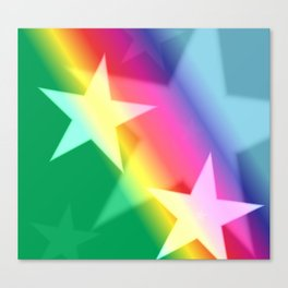 Rainbow Stars Canvas Print