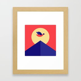 SUNSET BIRD Framed Art Print