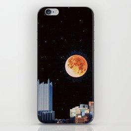 Blood Moon Over Pittsburgh Pennsylvania Skyline iPhone Skin
