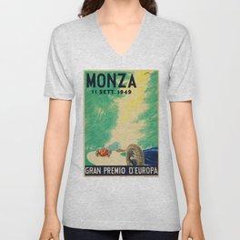 Grand Prix Monza, 1949, Gran Premio Monza, vintage poster Unisex V-Neck
