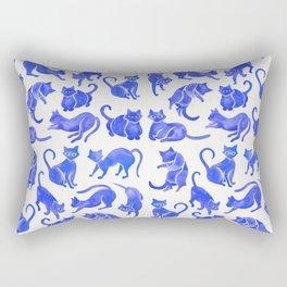 Cat Positions – Blue Palette Rectangular Pillow