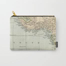 West  & North Africa Vintage Map Carry-All Pouch